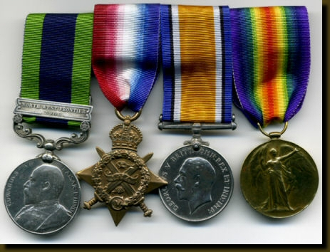 Private Albert Rowley's Medals