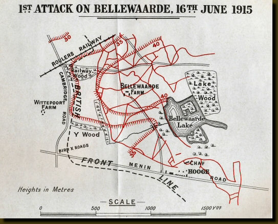 Map from Royal Irish Rifles in the Great War